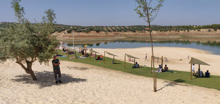 river beaches in the south of Portugal