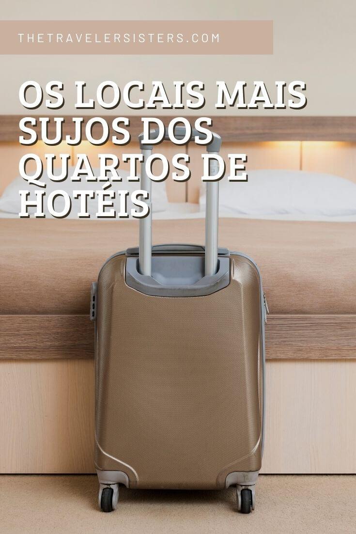 locais mais sujos dos quartos de hotéis