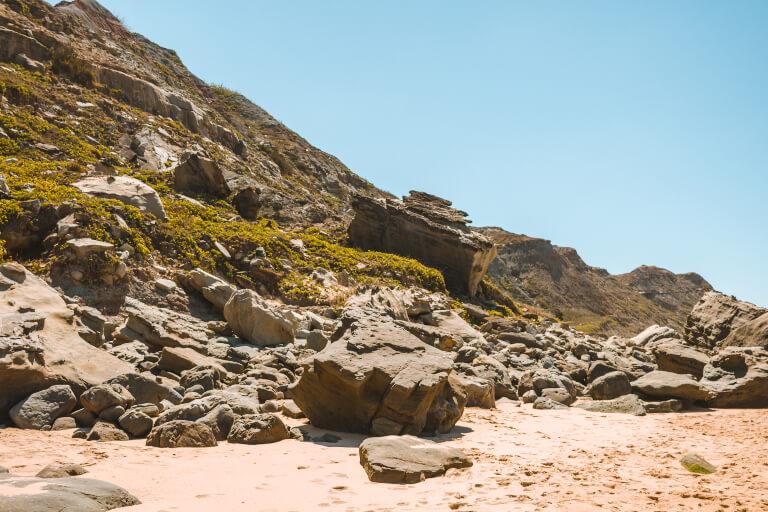 praia da areia branca lourinha portugal