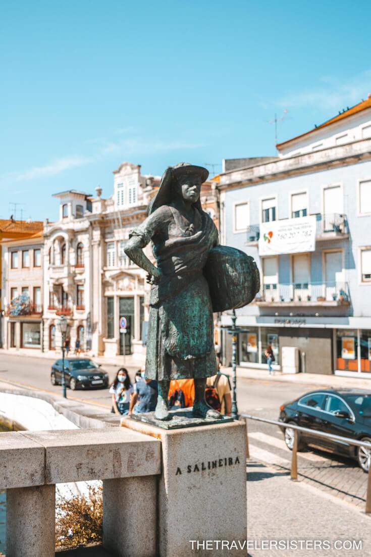 estatuas da ponte aveiro portugal